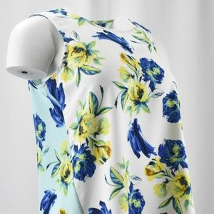 ! Floral Print BLUE-on-Back WHITE-on-Front Tank !